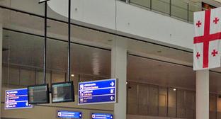"""Зал прилета в аэропорту Тбилиси. Фото Ахмеда Альдебирова для """"Кавказского узла"""""""