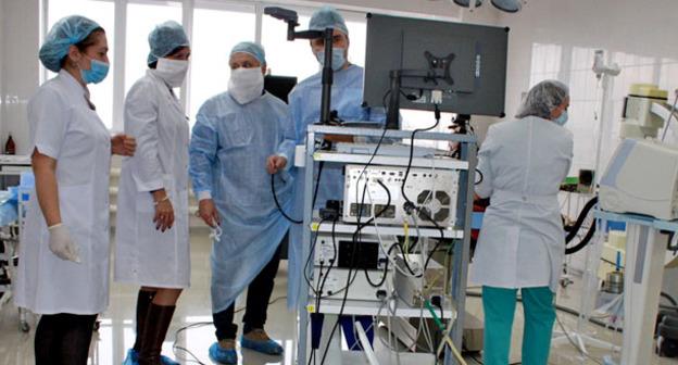 В Республиканской клинической больнице. Нальчик. Фото http://pravitelstvo.kbr.ru/
