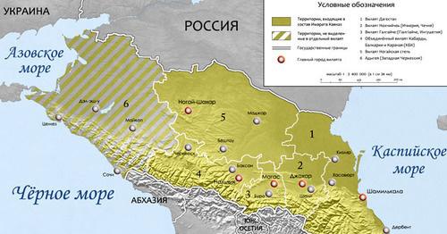 Территория Российской Федерации, на которой Доку Умаров провозгласил «джихад». Фото: Alfer1002 https://ru.wikipedia.org
