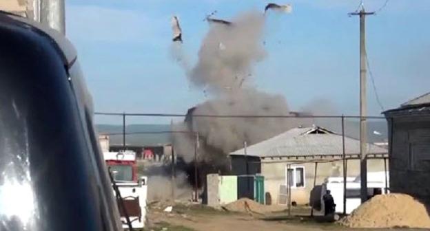 Спецоперация в буйнакском поселке Герей-Авлак. 20 апреля 2015 г. Фото http://nac.gov.ru/