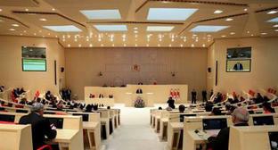 Заседание парламента Грузии. Фото https://www.facebook.com/Margvelashvili