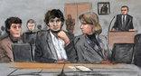 Джохар Царнаев. Рисунок из зала суда.  Фото: http://www.golos-ameriki.ru/content/boston-court-tzarnaev/2770764.html?page=1