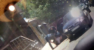 Момент задержания Мухаммада Магомедова, Махачкала, 23 мая 2015 год. Фото: М. Ахмедова
