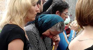 """Женщины на 5-й годовщине трагедии. Фото """"Кавказского узла"""""""