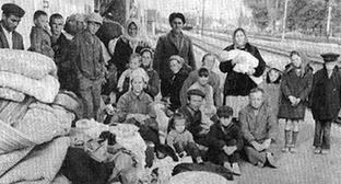 Депортация балкарского народа. 1944 г. Фото http://07kbr.ru/2013/03/09/v-nalchike-poshyol-miting-pamyati-zhertv-deportacii-balkarskogo-naroda/