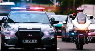 Автомобиль и мотоциклист МВД Грузии. Фото: http://police.ge/en/home