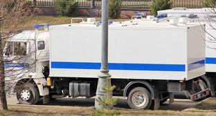 """Полицейская машина. Фото Магомеда Туаева для """"Кавказского узла"""""""