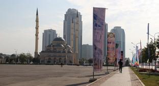 """Мечеть сердце Чечни. Грозный. Фото Магомеда Магомедова для """"Кавказского узла"""""""