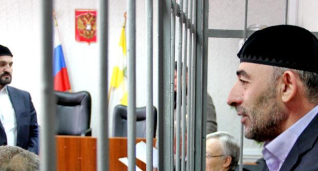 """Имам Кисловодска Курман-Али Байчоров во время заседания суда. Фото Магомеда Магомедова для """"Кавказского узла"""""""