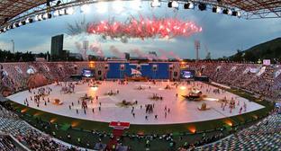 Открытие Европейского юношеского Олимпийского летнего фестиваля. Тбилиси, 27 июля 2015 г. Фото www.newsgeorgia.ge