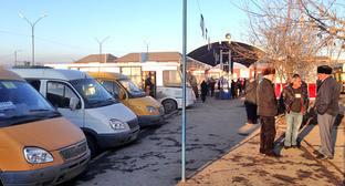 """Городской автовокзал в Назрани. Ингушетия. Фото Магомеда Магомедова для """"Кавказского узла"""""""