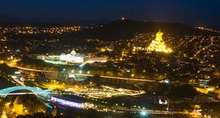 Ночная панорама Тбилиси. Фото: Spyros Petrogiannis, http://www.flickr.com/photos/spyrosp