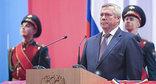 Церемония принесения присяги  Василием Голубевым. Фото: http://www.donland.ru/Default.aspx?pageid=92217