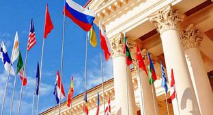"Флаги участников инвестиционного форума ""Сочи-2015"". Фото: http://www.yuga.ru/"