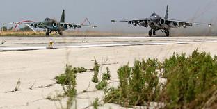 Самолёты ВВС России на аэродроме в Сирии. Фото: http://mil.ru/