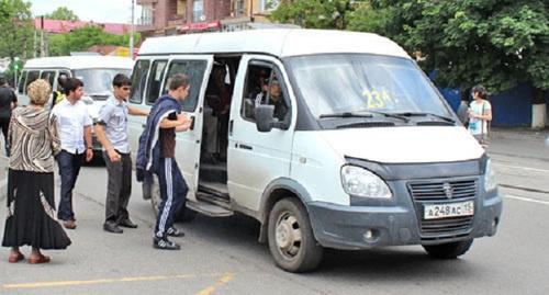 Маршрутные такси на улицах