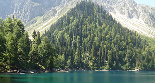 Озеро Малая Рица. Фото: Sergei Kazantsev, https://ru.wikipedia.org/wiki/Малая_Рица