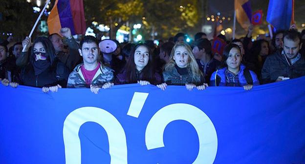 Митинг протеста в Ереване  21.11.2015. Фото: http://rus.azatutyun.mobi/a/27378038.html