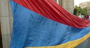 """Акция против подорожания электроэнергии, Ереван, 11-12 сентября 2015 года. Фото: Армине Мартиросян для """"Кавказского узла""""."""