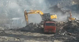 На месте строительства нового роддома в Цхинвале. Фото: http://osinform.org/53439-v-chinvale-gotovyat-ploschadku-pod-stroitelstvo-roddoma.html