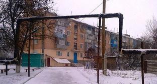 Здание в Горагорске, Чечня. Фото: http://chechenia.8bb.ru/viewtopic.php?id=778