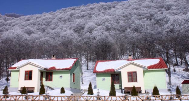 Курорт Цахкадзор. Армения. Кадр из видео пользователя Hotel Alva Armenia https://www.youtube.com/watch?v=mrLUiPCTPYI