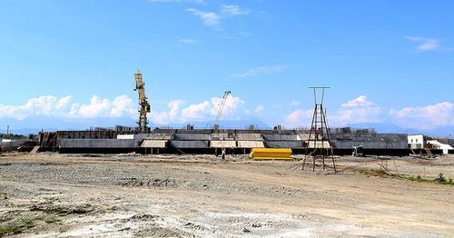 На месте строительства Соборной мечети в Магасе. Фото http://www.adm-magas.ru/