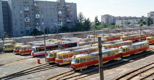Парк скоростного трамвая в Волгограде. Фото: Gortransvolga.ru