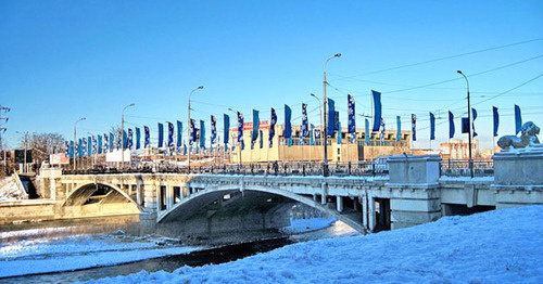 Кировский мост через Терек во Владикавказе. Северная Осетия. Фото: Иосиф Короткий (Iosif Korotkij)