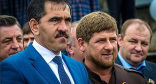 Юнус-Бек Евкуров и Рамзан Кадыров. Фото: https://www.instagram.com/p/BA7aar_yTg6/?tagged=евкуров