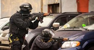 Сотрудники силовых структур во время КТО Фото: http://nac.gov.ru/antiterroristicheskie-ucheniya/taktiko-specialnoe-uchenie-groza-2015-v.html