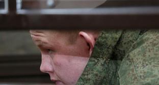 Валерий Пермяков во время первого судебного заседания по делу об убийстве семьи Аветисян. Гюмри, 18 декабря 2015 г. Фото: © PAN Photo / Hrant Khachatryan