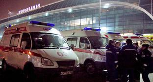Медицинские бригады в Домодедово. Москва, 24 января 2011 г. Фото: Yuri Timofeyev (RFE/RL)
