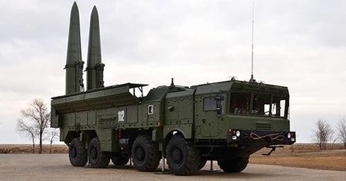 """Оперативно-тактическая ракета комплекса """"Искандер-М"""". Фото http://function.mil.ru/"""