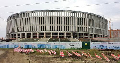 Строящийся стадион футбольного клуба «Краснодар». 7 июля 2015 года. Фото: Dominic Evans https://ru.wikipedia.org