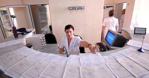 Регистратура в поликлинике. Фото: Иван Журавлев / Югополис