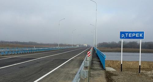Мост через реку Терек. Фото: http://www.minavtodorchr.ru/about/proverki/48-media-about-us/182-stroitelstvo-mosta