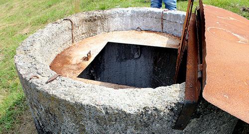 """Резервуар, в который собирается вода для обеззараживания, на окраине Алагира. Фото Эммы Марзоевой для """"Кавказского узла"""""""