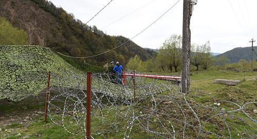 Государственная граница Южной Осетии с Грузией. Фото: © Sputnik/ Ада Багиан, http://sputnik-ossetia.ru/South_Ossetia/20160215/1311153.html