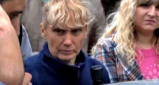 Инесса Тарвердиева дает показания. Фото: оперативная съемка МВД России https://mvd.ru/