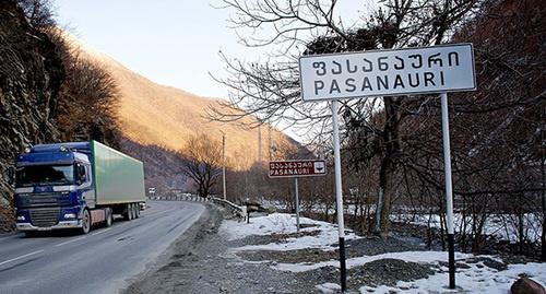 Движение по Военно-Грузинской / Фото: © Sputnik/ Александр Имедашвили, http://sputnik-georgia.ru/society/20160225/230355024.html
