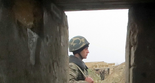 """На боевых позициях в зоне карабахского конфликта. Нагорный Карабах. Фото Алвард Григорян для """"Кавказского узла"""""""