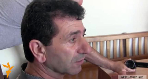 Володя Аветисян. Фото: Стоп-кадр видео http://rus.azatutyun.am/content/article/25432642.html