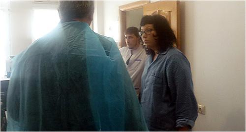 Сотрудник СМГ Катя Ванслов (справа). Фото предоставлен Джамбулатом Оздоевым, уполномоченным по правам человека в республике Ингушетия