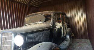 По данным ФЛНКА, во время пожара сгорела машина поэта, подаренная ему революционером Серго Орджоникидзе. Село Ашага-Стал, 22 марта 2016 г.  Фото: http://flnka.ru/glav_lenta/12780-sgorel-muzey-suleymana-stalskogo.html