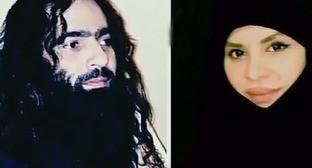 Чеченская певица Хазан (Аза) Батаева и ее муж. Кадр из видео пользователя Чечня 95 https://www.youtube.com/watch?v=iX2wxtPmYFQ