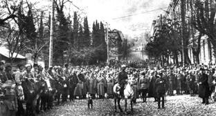 Красная армия вступает в Тифлис (25 февраля 1921). Фото https://ru.wikipedia.org/
