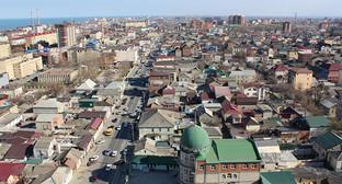 Вид на Махачкалу. Фото: Арсен Багазиев, http://odnoselchane.ru/?page=photos_of_category&sect=2323&com=photogallery