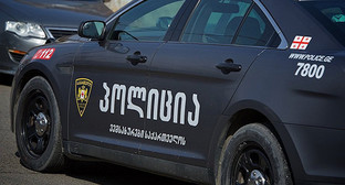 Автомобиль полиции в Тбилиси. Фото: © Sputnik/ Александр Имедашвили, http://sputnik-georgia.ru/incidents/20160503/231460578.html