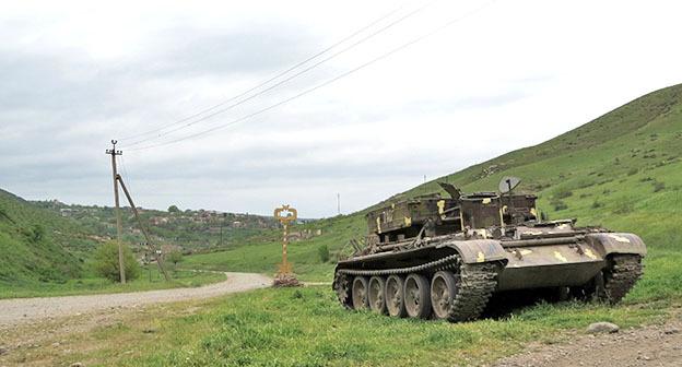 Вид на приграничное село Талиш Мартакертского района Нагорного Карабаха.28 апреля 2016 г. Фото Алвард Григорян для «Кавказского узла»